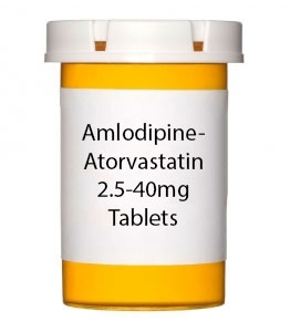 Amlodipine-Atorvastatin 2.5-40mg Tablets - 30 Count Bottle