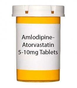 Amlodipine-Atorvastatin 5-10mg Tablets - 30 Count Bottle