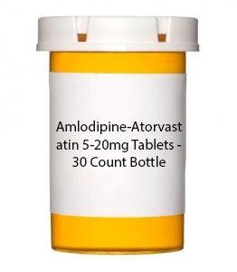 Amlodipine-Atorvastatin 5-20mg Tablets - 30 Count Bottle