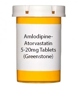 Amlodipine-Atorvastatin 5-20mg Tablets- 30ct Bottle (Greenstone)