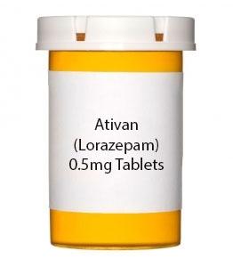 Ativan (Lorazepam)  0.5mg Tablets