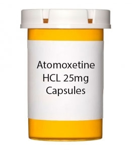 Atomoxetine HCL 25mg Capsules