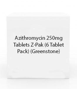 Azithromycin 250mg Tablets Z-Pak (6 Tablet Pack) (Greenstone)