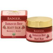 Badger Damascus Rose Beauty Balm -  1oz Glass Jar ** Extended Lead TIme**