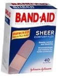 Band-Aid Bandage Comfort Flex Sheer One Size - 40