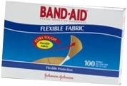 """Band-Aid Bandage Flexible Fabric 1"""" x 3"""" - 100/Box"""