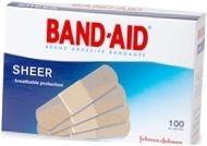 Band-Aid Bandage Sheer Regular 3/4 Inch - 100