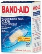 Band-Aid Bandage Water Block Plus Clear 20/Box