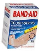 Band-Aid Bandages Tough-Strips Assorted  20ct****OTC DISCONTINUED 3/5/14
