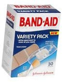 Band-Aid Bandages Variety Pack - 30***otc Discontinued  2/24/14