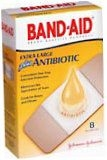 Band-Aid Plus Antibiotic Bandages Extra Large All One Size  8ct****OTC DISCONTINUED 3/5/14