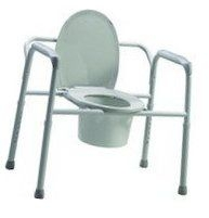 Bariatric Folding Commode- Steel Gray