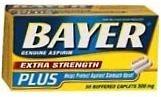 Bayer Aspirin Extra Strength Plus Caplet 50ct QUANTITY OF 2DEEP DISCOUNT