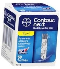 Bayer Contour Next Diabetic Test Strips - 50 Strips