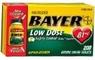 Bayer Low Dose Safety Coated Aspirin 81mg Tablet 200ct