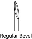 "BD Regular Bevel Needles 25 Gauge, 5/8"", - 100 Needles"