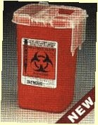BD Sharps Red Collection Container - 1.5qt