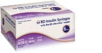 "BD Ultrafine Insulin Syringe 31 Gauge, 3/10cc, 6 MM(15/64"")  Needle - 100 Count"