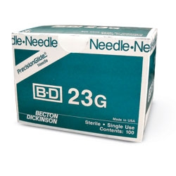 "BD Regular Bevel Needle 23 Gauge, 1.5"" - 100ct"