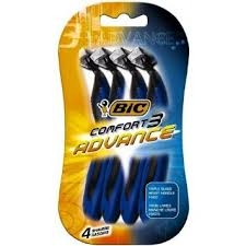 Bic Comfort 3 Advance Disposable Shaver- 4pack