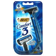 Bic Comfort 3 Disposable Shaver for Sensitive Skin- 4pack