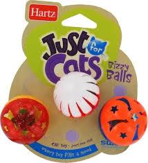 Hartz® Bizzy Balls Cat Toys- 3pk ** Extended Lead Time **