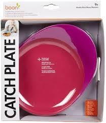 Boon Catch Plate with Spill Catcher Pink/Purple ** Extended Lead Time **