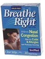 Breathe Right Strip Clear Small/Medium - 30