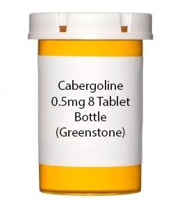 Cabergoline 0.5mg 8 Tablet Bottle (Greenstone)