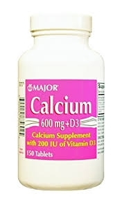 Calcium with Vitamin D3 (600 mg - 200 IU) - 150 Tablets