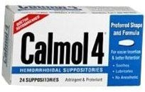 Calmol-4 Hemorrhoidal Suppositories - 24- DISCONTINUED 5-24