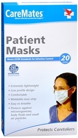 CareMates Ear-Loop Mask, One Size Fits All- 20ct