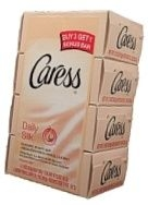 Caress Daily Silk Silkening Beauty Bar 4-4.25 Ounce Bars