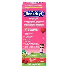 Benadryl Children's Allergy Liquid, Cherry- 4oz