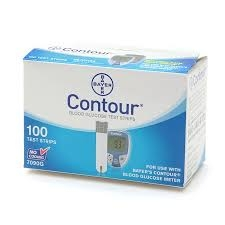 Bayer Contour Blood Glucose Test Strips- 100ct
