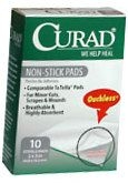 Curad Non-Stick Pads 2 Inches X 3 Inches  10ct