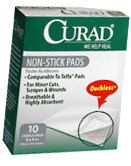 Curad Non-Stick Pads 3 Inches X 4 Inches  10ct