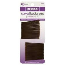 Conair® Styling Essentials Curved Bobby Pins, Brown, 60ct- 3 Packs ** Extended Lead Time **