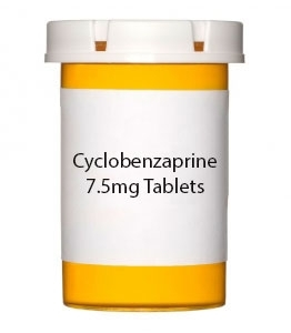 Cyclobenzaprine 7.5mg Tablets