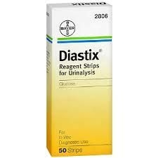 Diastix Urine Reagent Strips - 50 Urinalysis Strips