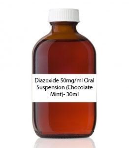 Diazoxide 50mg/ml Oral Suspension (Chocolate Mint)- 30ml