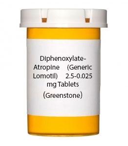 Diphenoxylate-Atropine (Generic Lomotil) 2.5-0.025 mg Tablets (Greenstone)