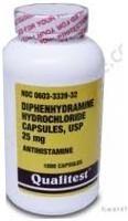 Diphenhydramine 25mg Capsules- 100