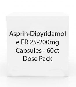 Asprin-Dipyridamole ER 25-200mg Capsules - 60ct Dose Pack