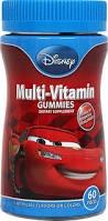 Disney Pixar Cars Child Multivitamin Gummies- 60ct