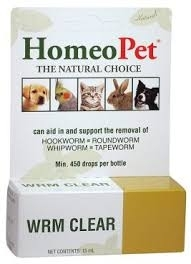HomeoPet WRM Clear Natural Drops, 15mL
