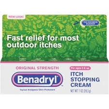 Benadryl Itch Stopping Cream Original Strength, 1 Oz