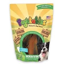 Pegetables Gluten-Free Dental Chews for Medium Dogs, 9 Count