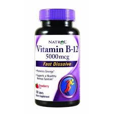 Natrol Vitamin B-12 5000mcg Fast Dissolve Tablets, Strawberry- 100ct