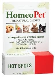 HomeoPet Hot Spots, 450 Drops, 15 ml
